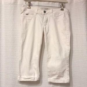 Hollister Capri White Denim Jeans
